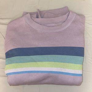 American Eagle Lavender Oversized Sweatshirt